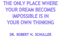 THE ONLY PLACE WHERE